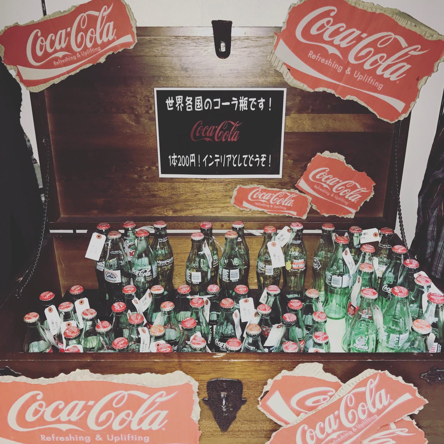 インテリアにどうですか?世界各国のコカコーラ瓶いっぱいあります♪サンステッププラスワッセ店 買取 買い取り 福井市