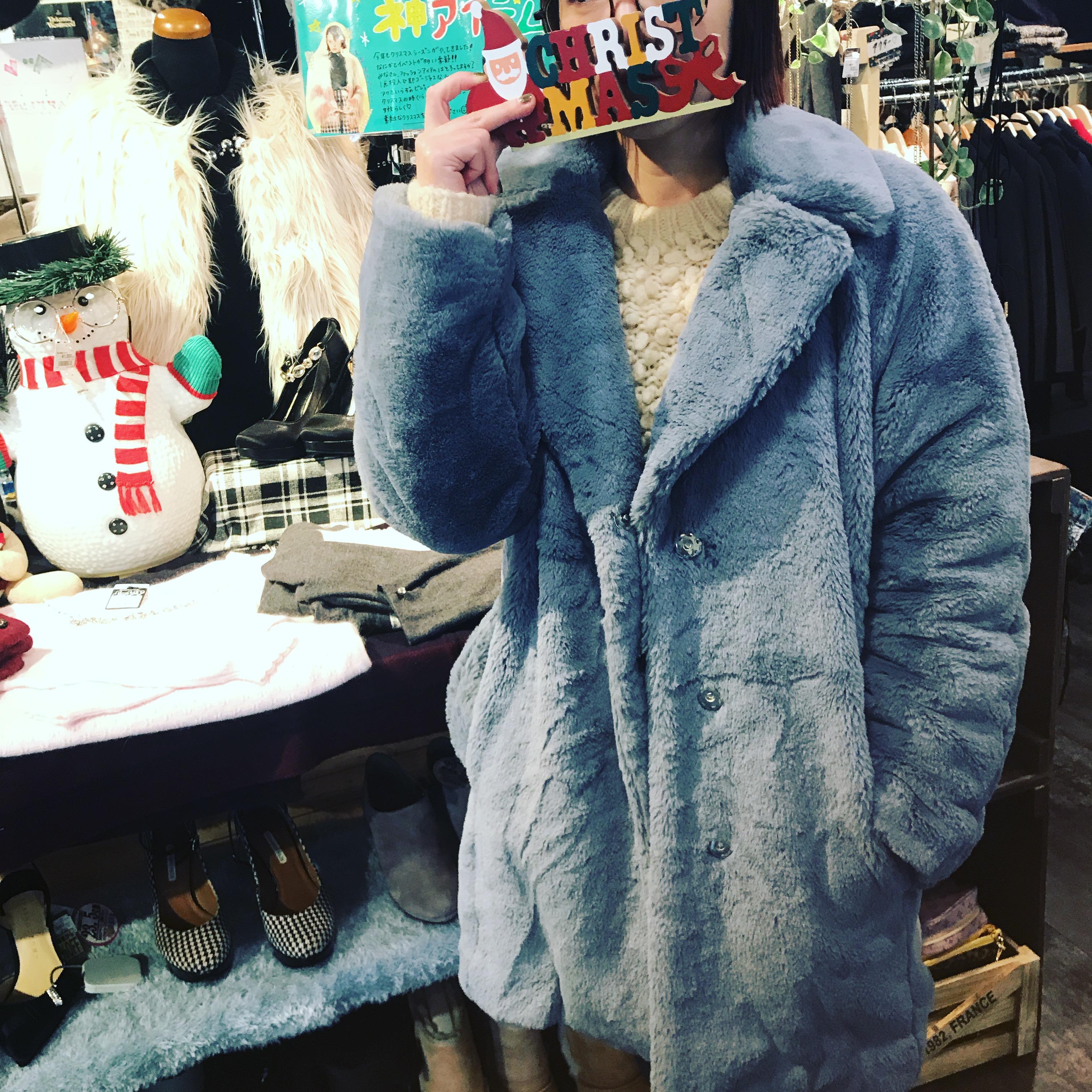 MOUSSYのファーコートを紹介します!!